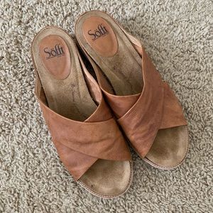 Sofft Brylee Leather Sandals Luggage